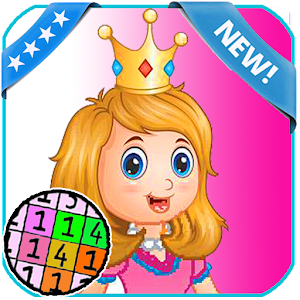 Princess Coloring - Color By number for PC
