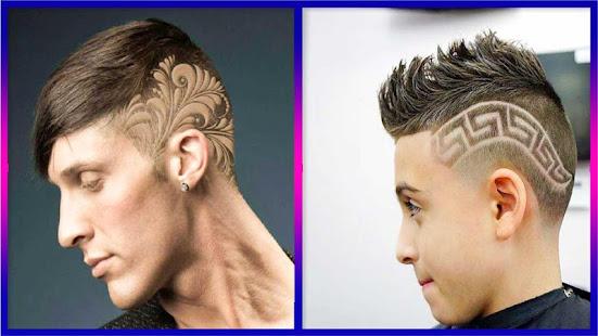 tattoos sind seit einigen jahren weit verbreitet aber eines der neuen muster ist hautttowierungen da untergrbt und halbwegs rasierte frisuren sind - Muster In Haare Rasieren