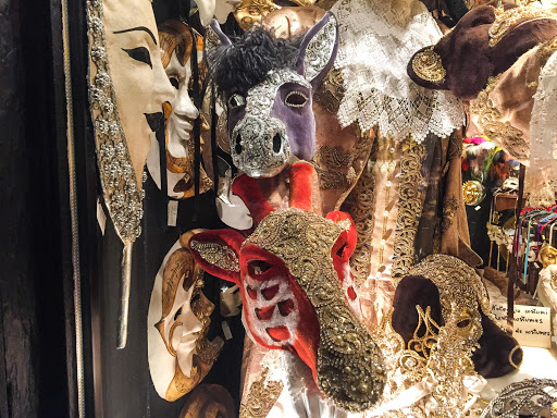 Venice-masked-animals.jpg - Animal masks in a shop window along the Procuratie Vecchie on Piazza San Marco, Venice.