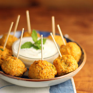 Afghan-style Pumpkin Turkey Meatballs With Yogurt Mint Sauce