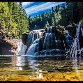 Lewis River Falls by Ivan Johnson - Novices Only Landscapes (  )