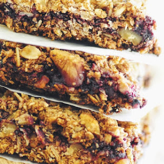 Blackberry Walnut Oat Bars (Gluten Free, Vegan)