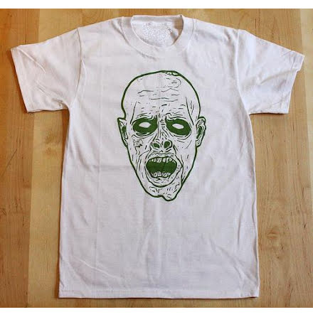 T-Shirt - Face - Vit/Grön