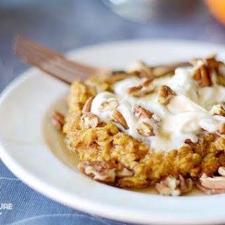 Baked Pumpkin Pie Oatmeal! {THM E}
