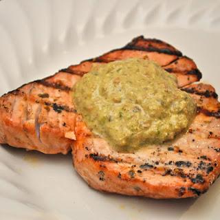 Grilled Tuna with Pesto