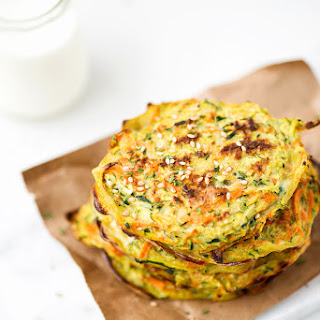 Baked Zucchini and Carrot Pancakes.