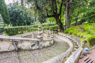 Photo: Staircase down the gardens of Villa d'Este in Tivoli, Lazio, Italy