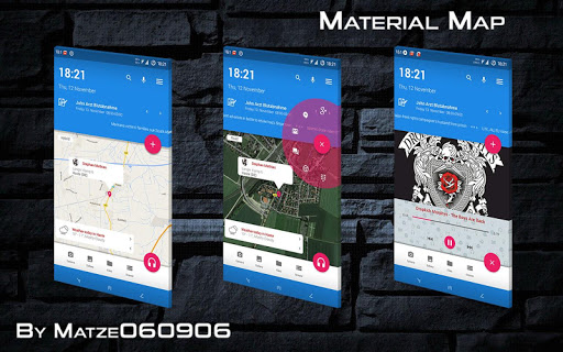 Material Map for KLWP
