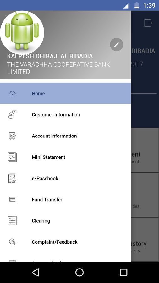 Varachhabank Mobile Banking- screenshot