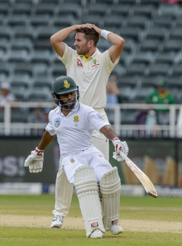 Temba Bavuma of South Africa during day 2 of the 4th Sunfoil Test match between South Africa and Australia at Bidvest Wanderers Stadium on March 31, 2018 in Johannesburg, South Africa.
