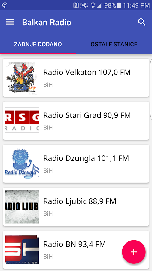 Balkan Radio- screenshot