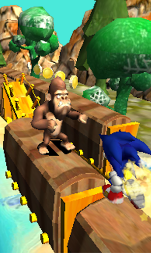 Blue Hedgehog Run : Dash Adventure android2mod screenshots 4