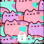 Cute Kitten Kawaii Doodle Arts Funny Cat Applock
