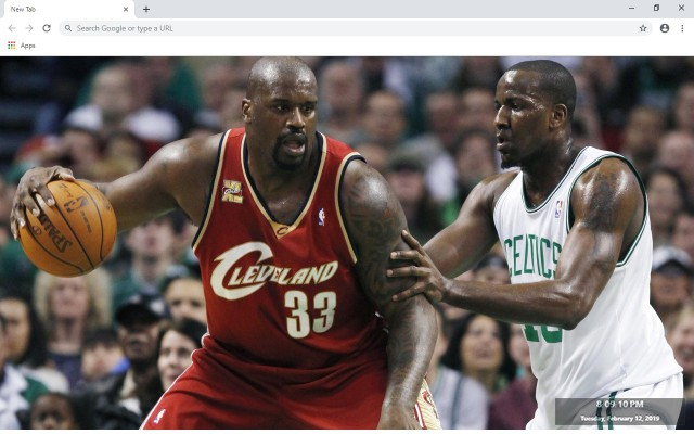 Shaquille O'Neal NBA New Tab
