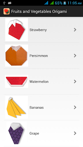 과일과 야채 종이 접기