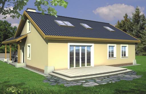 projekt Azalia wersja B z wiatą