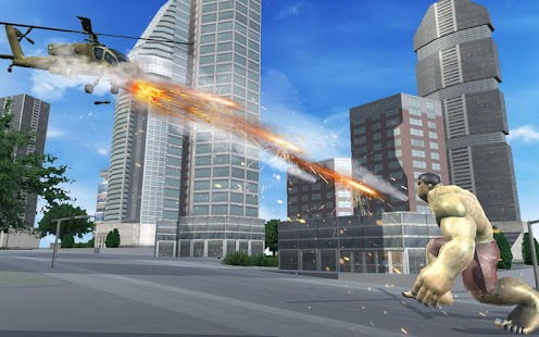 Angry Monster Hero vs Army Helicopter Tanks Battle- screenshot thumbnail