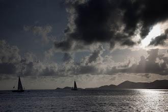 Photo: Sailboats past Norman Island