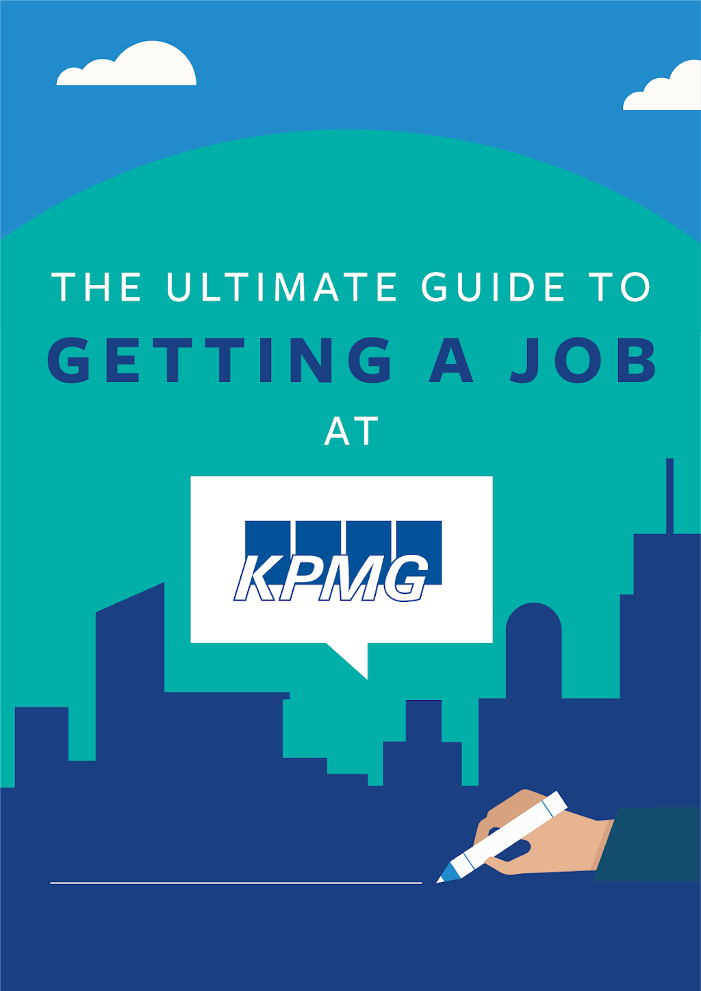 Ebook Cover: The Ultimate Guide to Getting a Job at KPMG