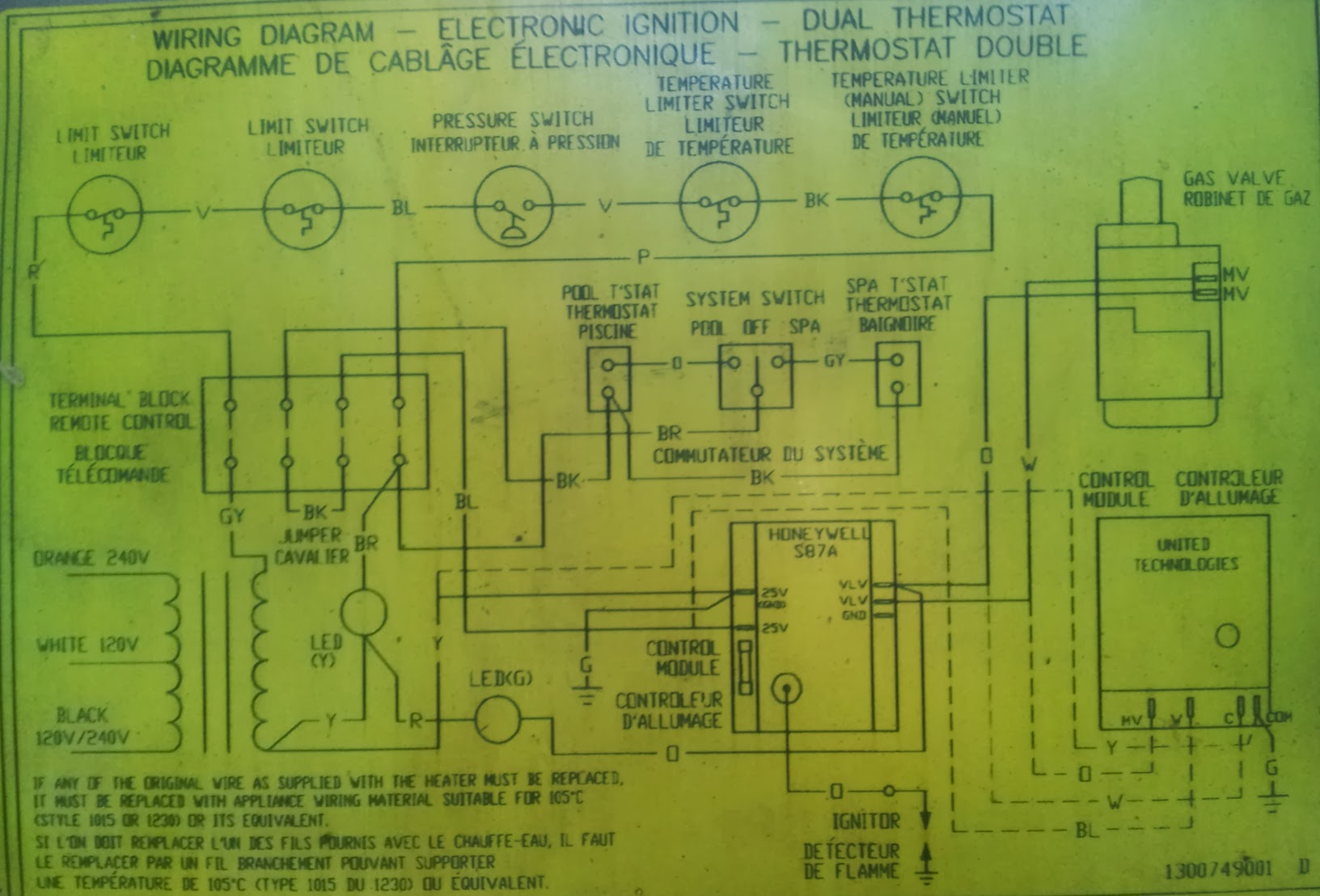 hayward h250 ed1 pool heater electronic ignition dr terrible s wiring diagram