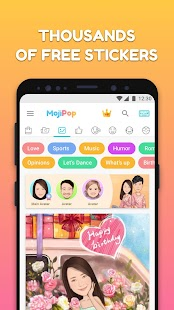 MojiPop - My Personal Emoji Keyboard & Camera Screenshot
