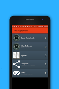 Canal Fiesta Radio App - náhled