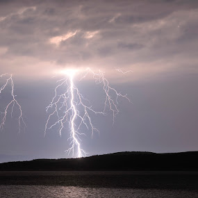 L&T by Zvonimir Cuvalo - Landscapes Weather ( water, thunder, adriatic, lightning, sea, storm )