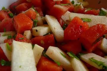 Watermelon Salad with Jicama & Cotija
