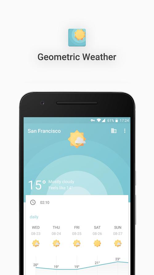 Screenshot 2 Geometric Weather 2.214 APK PAID