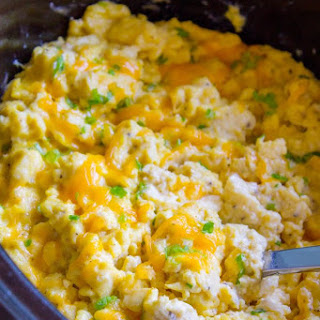Creamy Make Ahead Scrambled Eggs for a Crowd.