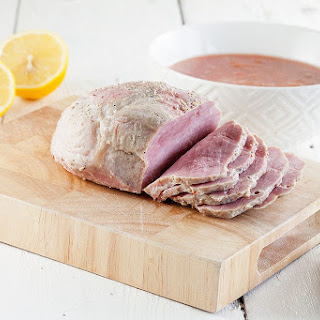 Slow Cooked Ham With Plums And Lemon