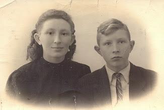 Photo: Broer en zus Geert en Ida Jansen