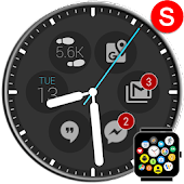 Notification Icons Watch Face Theme Status Bubbles