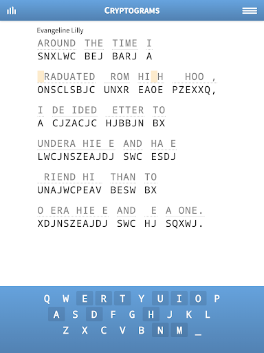 Cryptogram Puzzles 1.62 screenshots 6