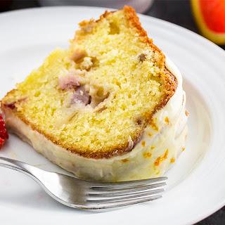 Strawberry Rhubarb Bundt Cake.