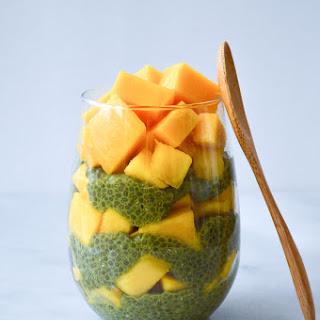 Matcha Mango Chia Seed Pudding