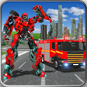Fire Truck Real Robot Transformation: Robot Wars icon