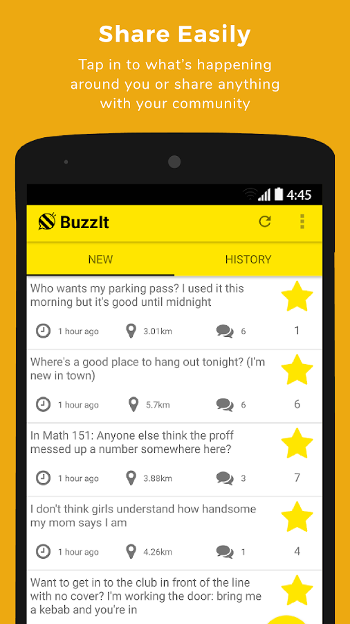 BuzzIt: Location Based Chat (Unreleased)- screenshot