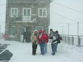 Photo: Stacja kolejki na przełęczy Jungfraujoch