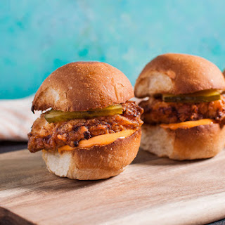 Fried Chicken Sliders with Spicy Mayo