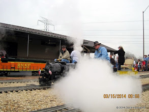 Photo: Steam from a steam loco making a show in the station.   2014-0315 DH3