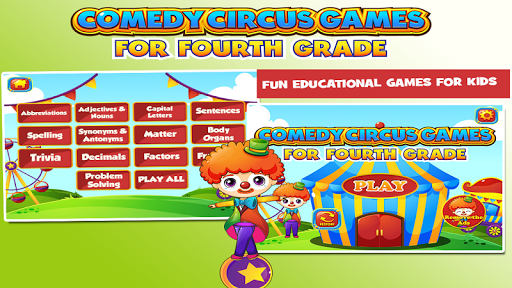 Circus Fourth Grade Games