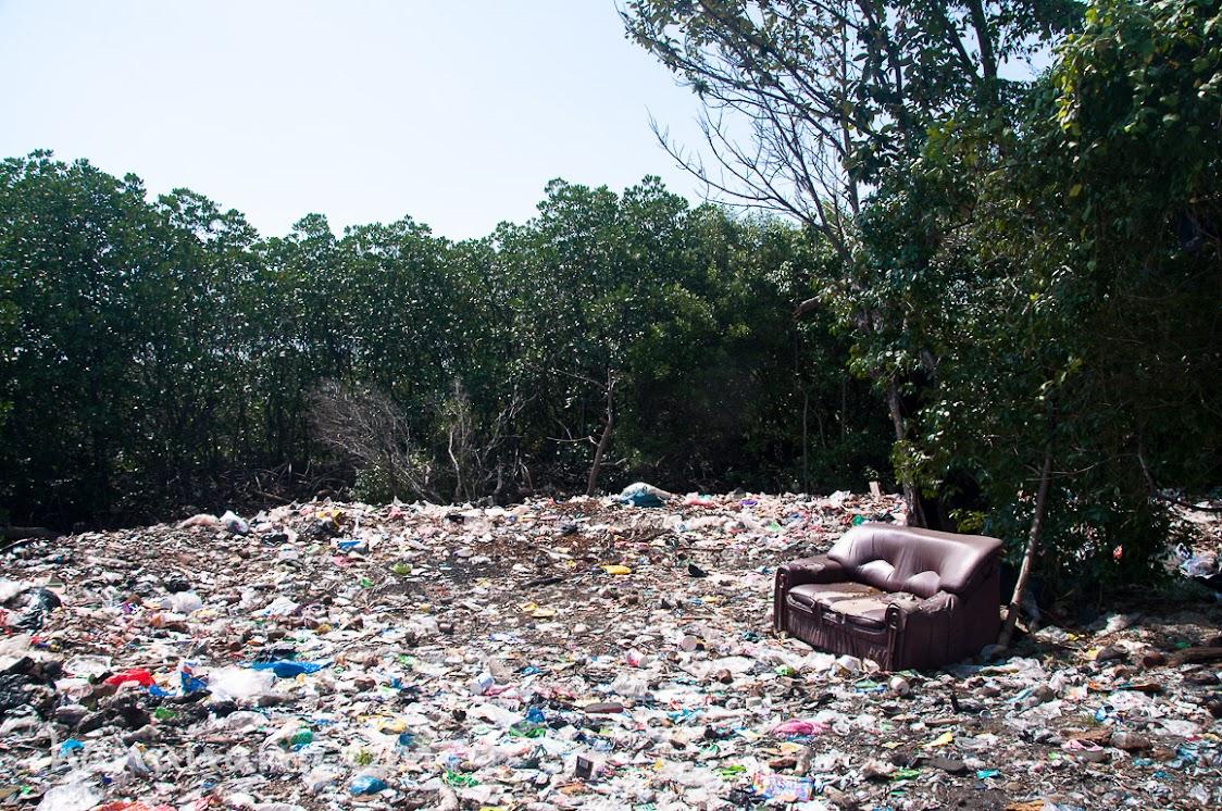 Salah satu tempat pembuangan sampah di Pulau Untung Jawa.