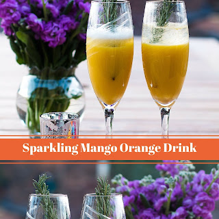 Sparkling Mango Orange Cocktail