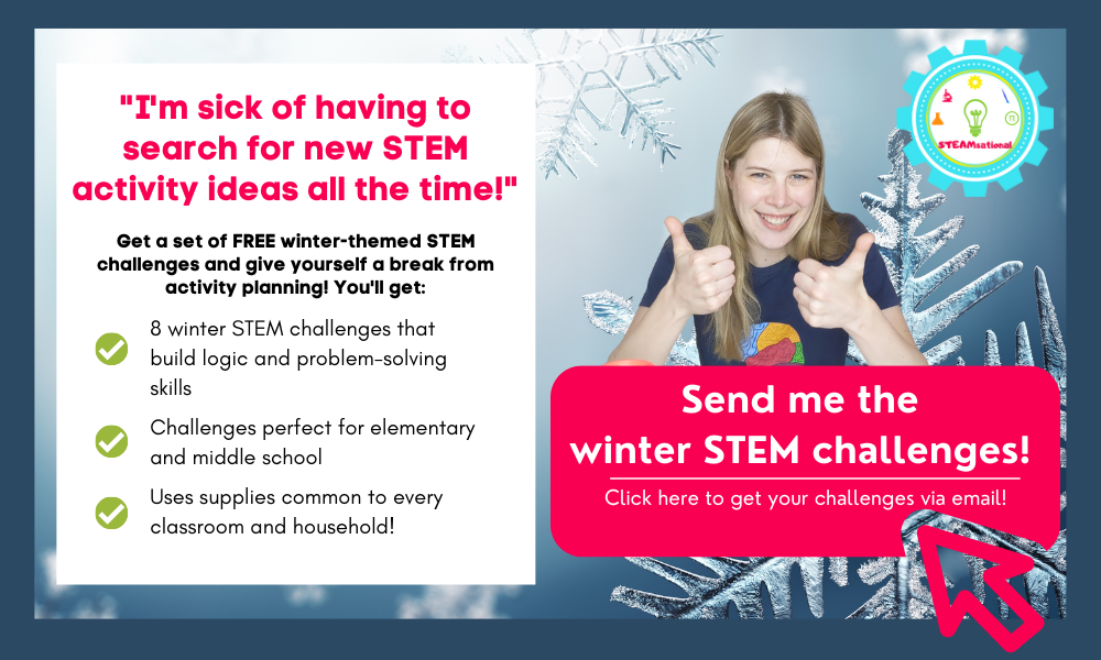 winter stem challenge cards
