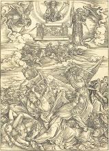 Photo: Albrecht Dürer (German, 1471 - 1528 ), The Four Avenging Angels, probably c. 1496/1498, woodcut, Ailsa Mellon Bruce Fund