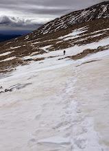 Photo: Packed snow on Longs Peak Trail