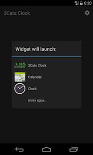 3Cats Clock Widget + Seconds - náhled