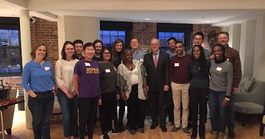 Soup night with President Reif