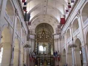 Photo: The chapel, Église Saint-Louis-des-Invalides, at Musée de l'Armée. The flags are trophies from various victorious battles.